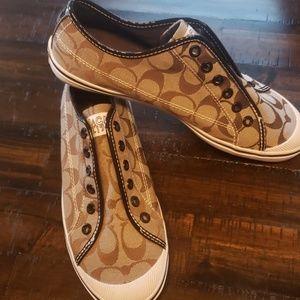 Coach slip on casual shoes felix